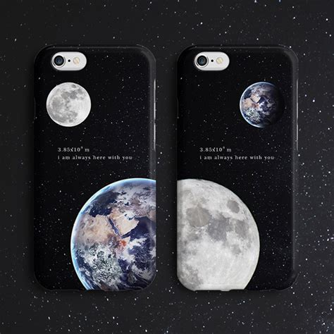 I Phone 6 6s 7 Moon creative simple earth moon pattern soft