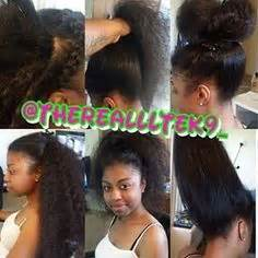 sew in hairstyles that teenagers are getting kinky curly middle part sew in hair work 2 pinterest