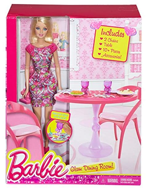 barbie dining room set barbie doll and dining room set furniture tables kitchen