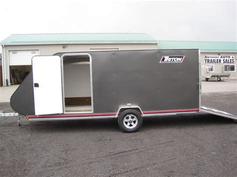 A Place Trailer 1 2018 Triton Aluminum Tc167 2 Place Snowmobile Trailer Stock 17 080 17 081 Northport Auto