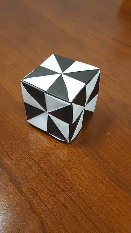 Origami Pinwheel Cube - origami pinwheel cube folded by nick mcmacmack ez origami