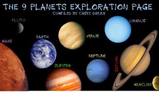 what colors are the planets what color are the planets images