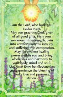 Am the lord who heals you healing prayer card elizabeth ministry