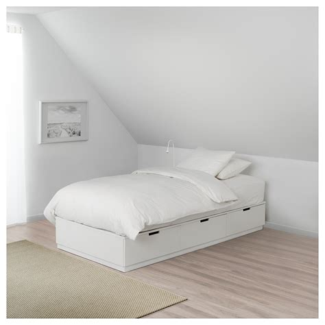 nordli bed nordli bed frame with storage white 90x200 cm ikea
