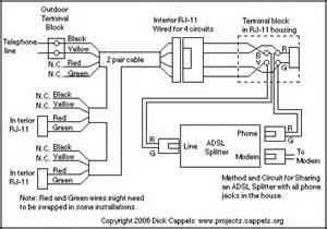 adsl splitter adapter 1 basic circuit circuit diagram seekic