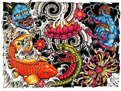 cartoon tattoo girl wallpaper japanese tattoo wallpapers wallpaper cave