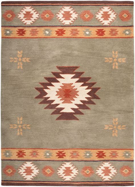 South Western Rugs by Southwestern Rizzy Rugs Southwest Green Wool