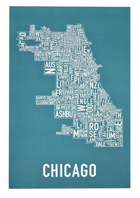 chicago neighborhood map poster chicago map poster swimnova