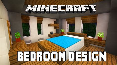 Minecraft Tutorial How To Build A Modern House Ep 6 Build A Bedroom Furniture