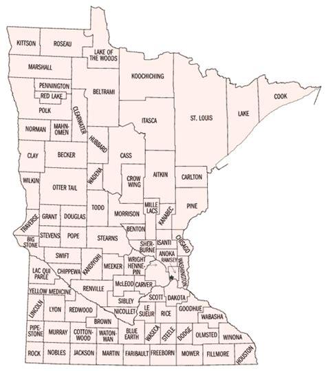 mn zip code map map of minnesota counties
