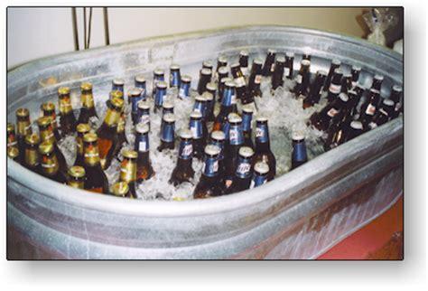 beer bathtub bar service