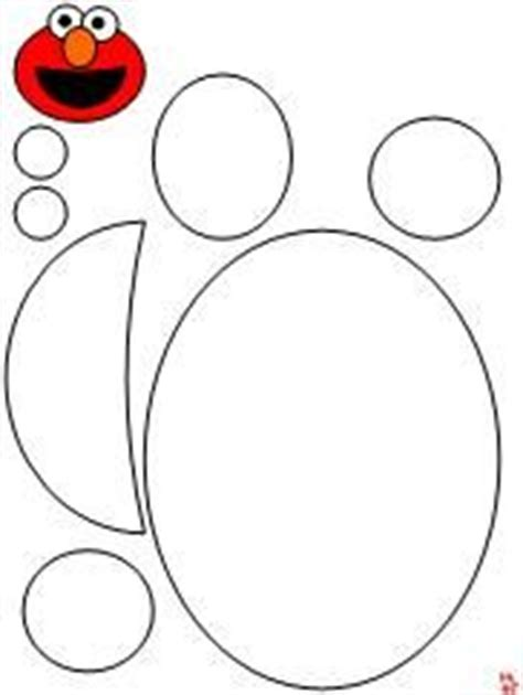 elmo cut out templates free cut out 2 5 inch circles for