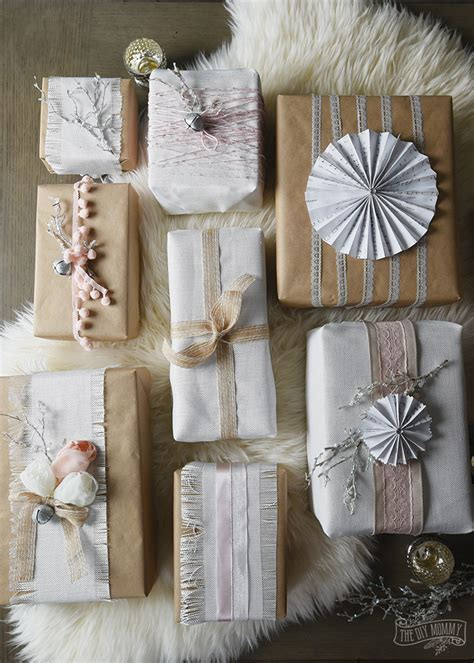shabby chic christmas gift wrapping ideas 12monthsofdiy
