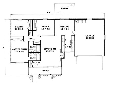 ranch house floor plans with walkout basement house plan