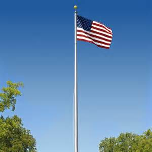 Sectional Flagpole by Commercial Grade Sectional 20ft Flagpole Satin Finish