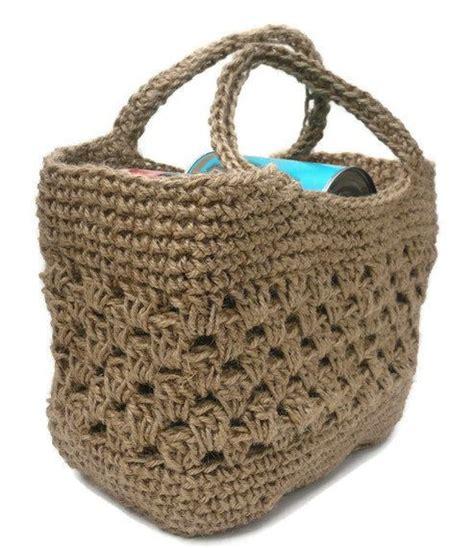 crochet jute bag pattern tote shopping bag strong crocheted jute made in england