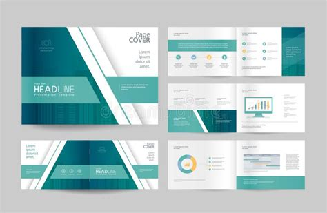 layout web company profile business brochure design template and page layout for