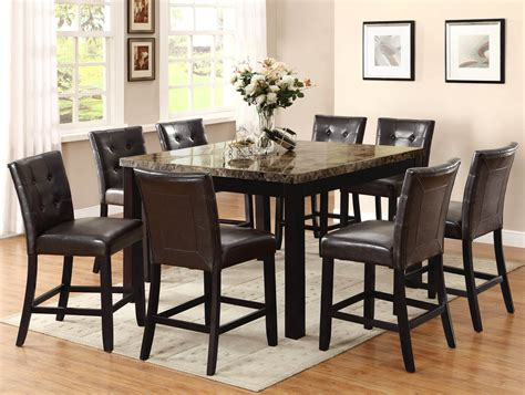 tall dining room sets bruce faux marble counter height set dining room sets