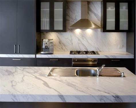 marble bench top marble benchtops dark blue cabinets google search volakas pinterest marbles