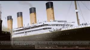 titanic color titanic in color