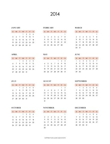 annual calendar template 2014 printable 2014 yearly calendar page 2 new calendar