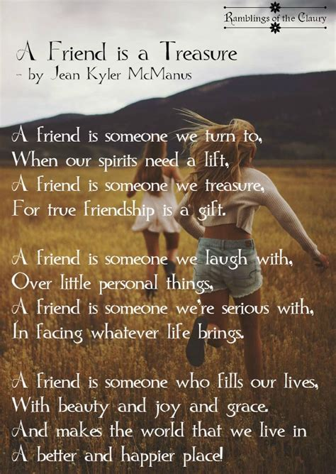 8 Things That Bff Relationships Up by A Friend Is A Treasure Friendship Laughter And Poem