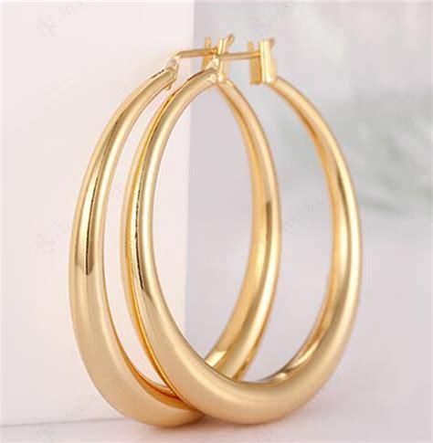 18k big gold hoop earrings yellow gold hoop earrings