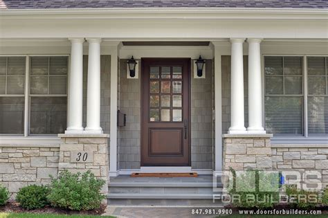 classic collection solid wood front entry door clear beveled glass solid wood front Single Glass Exterior Door