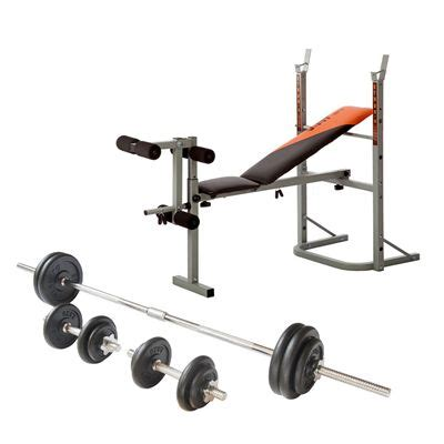 folding weight bench with weight set v fit stb09 1 folding weight bench with 50kg cast iron