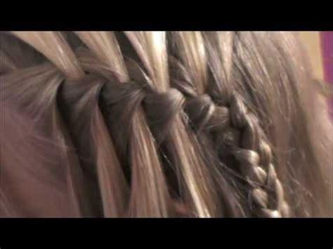 youtube tutorial waterfall braid waterfall braid tutorial youtube