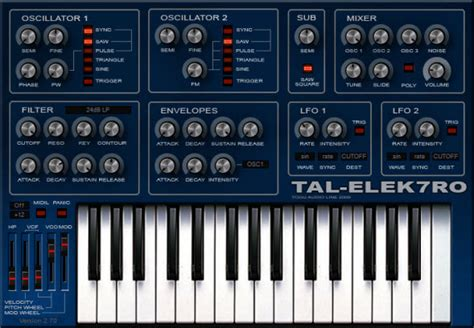house music vst tal elek7ro ii free and fat vst synth