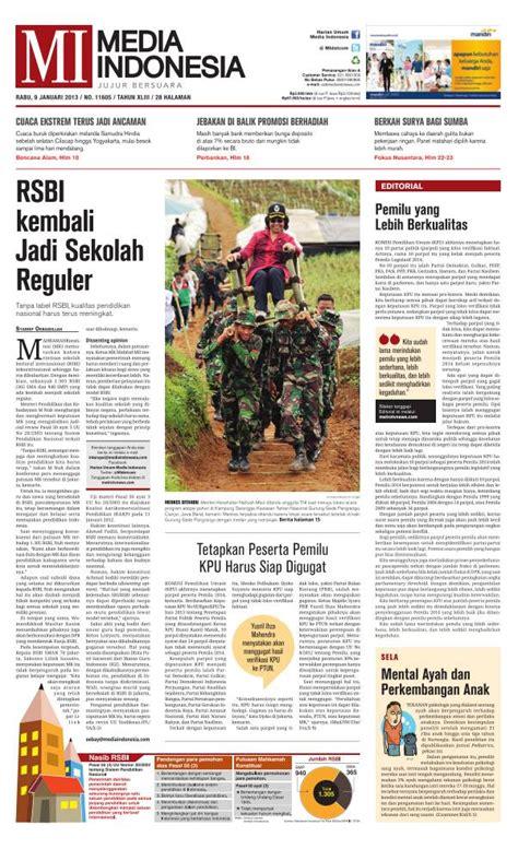 jenis layout koran iklan di koran media indonesia pasang iklan 021 54361493