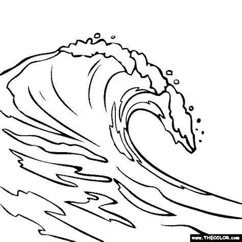 the great wave coloring page coloring pages