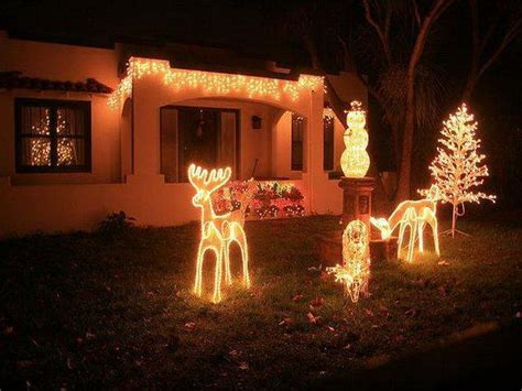 outdoor lighted christmas decorations light decorating ideas