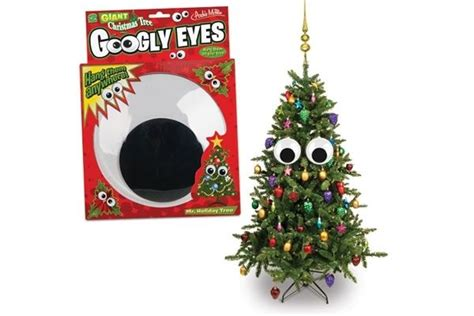 giant christmas tree googly eyes neatorama