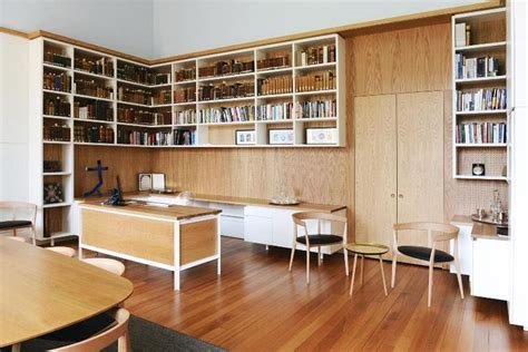 Open Shelving Masters Office In The Historic Ormond College At The