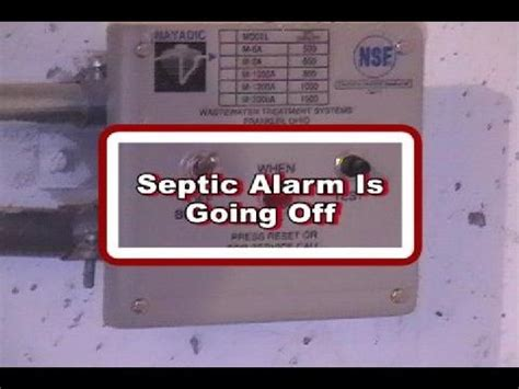 alarm going septic alarm is going what does it
