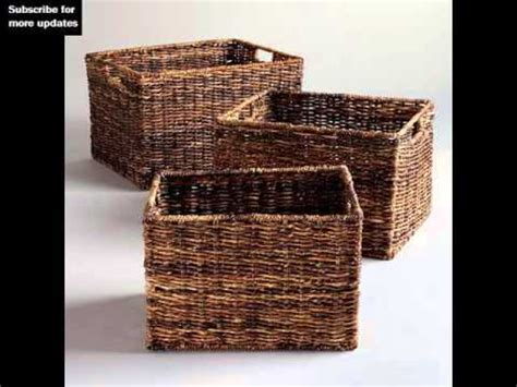 How To Weave A Cube - wicker storage cube woven storage baskets collection