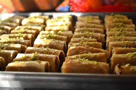 Arabic Sweet Baklava Roll Mixnut pistachio and cashew baklava fingers susan eats