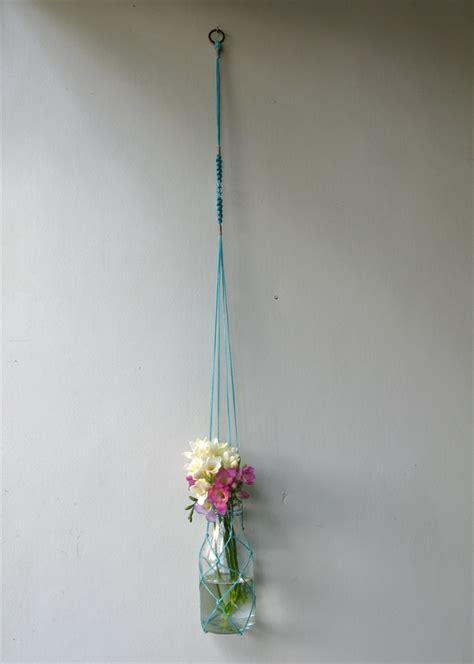 Macrame Net - macrame fishing net flower plant hanger vintage inspired
