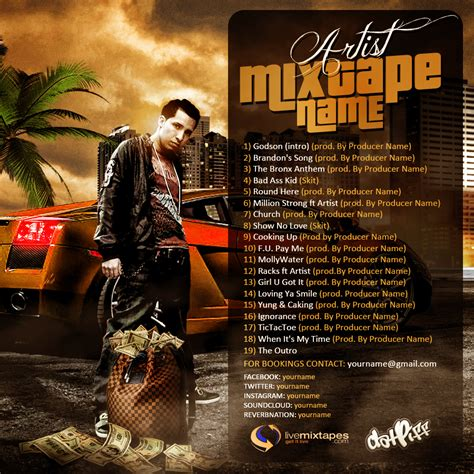 mixtape cover template 20 photoshop mixtape templates images free mixtape cover
