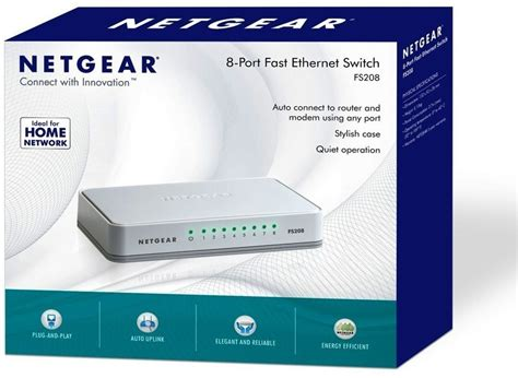 Netgear Fs208 by Netgear Fs208 8 Port Fast Ethernet Network Switch