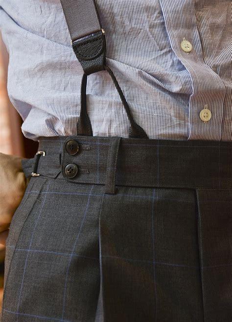 Baggy Grey Pleats braces 215 pleats s fashion