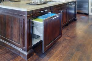 kitchen island double pull out waste bin transitional