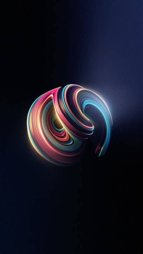 circle abstract iphonex