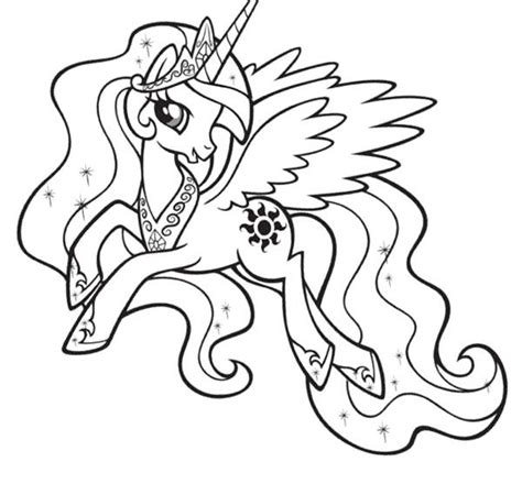my little pony coloring pages princess luna and celestia free coloring pages of my little pony princess luna