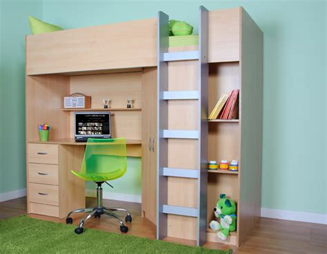 High Sleeper Bed With Desk And Wardrobe by High Sleeper Cabin Bed With Desk And Wardrobe Calder M2270