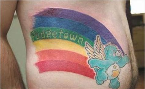 care bear fudgetown tattoo awful ink