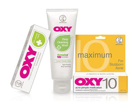 Oxy Rid 3 simple steps to pimple free skin with oxy cleansing wash oxy 10 anti pimple gel
