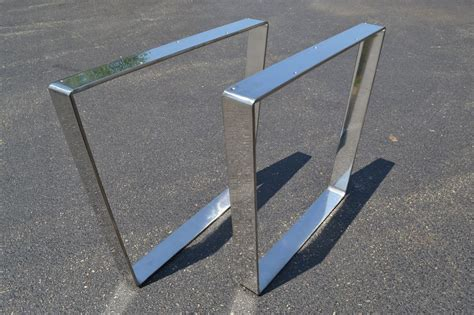 polished chrome desk accessories polished stainless chrome metal bent table bench desk legs